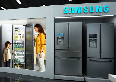 Exhibición – Tienda Samsung del CC Santa Ana